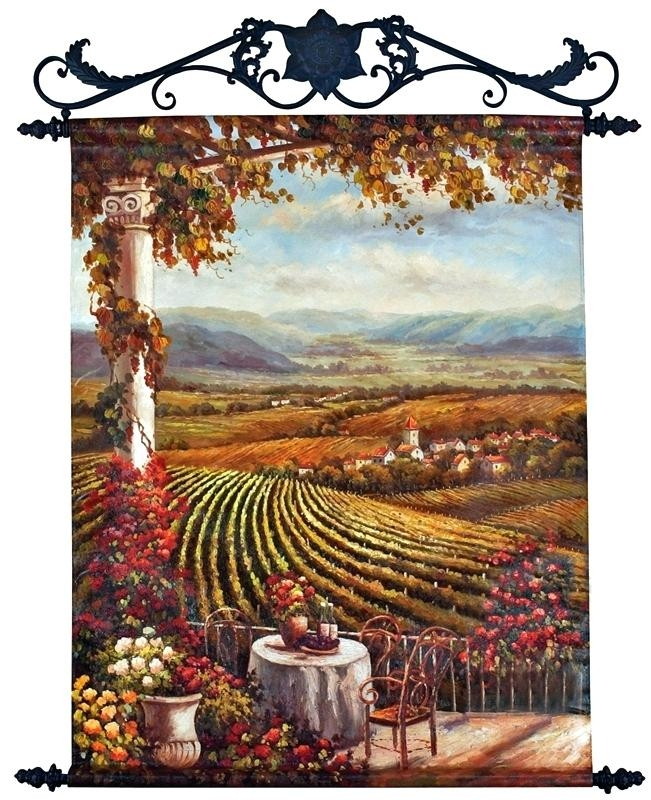 Wall Art ~ Tuscan Style Wall Art Tuscan Style Outdoor Wall Art Old With Regard To Italian Style Metal Wall Art (Image 17 of 20)