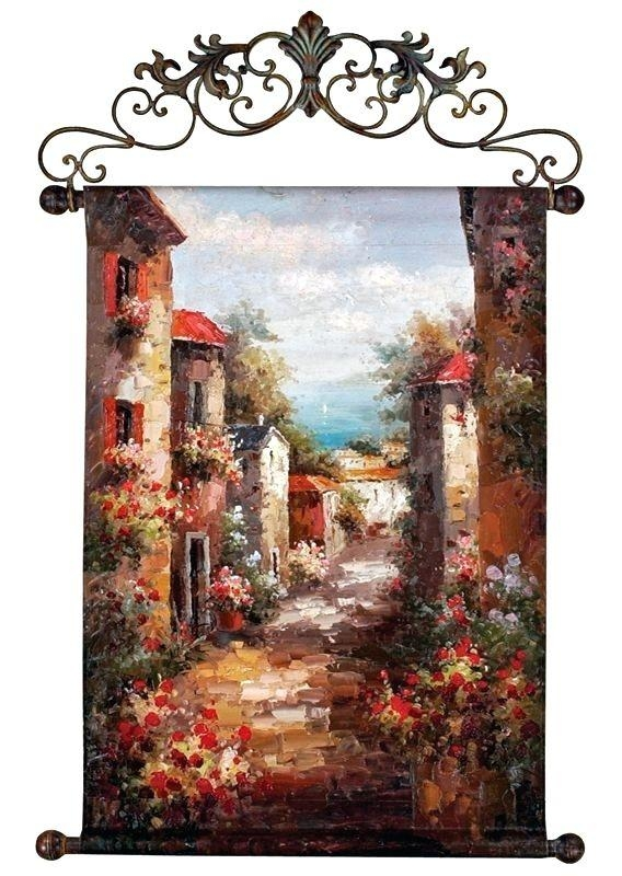 Wall Art ~ Tuscan Wall Art Decor Tuscan Metal Wall Art Decor Regarding Italian Style Metal Wall Art (Image 18 of 20)