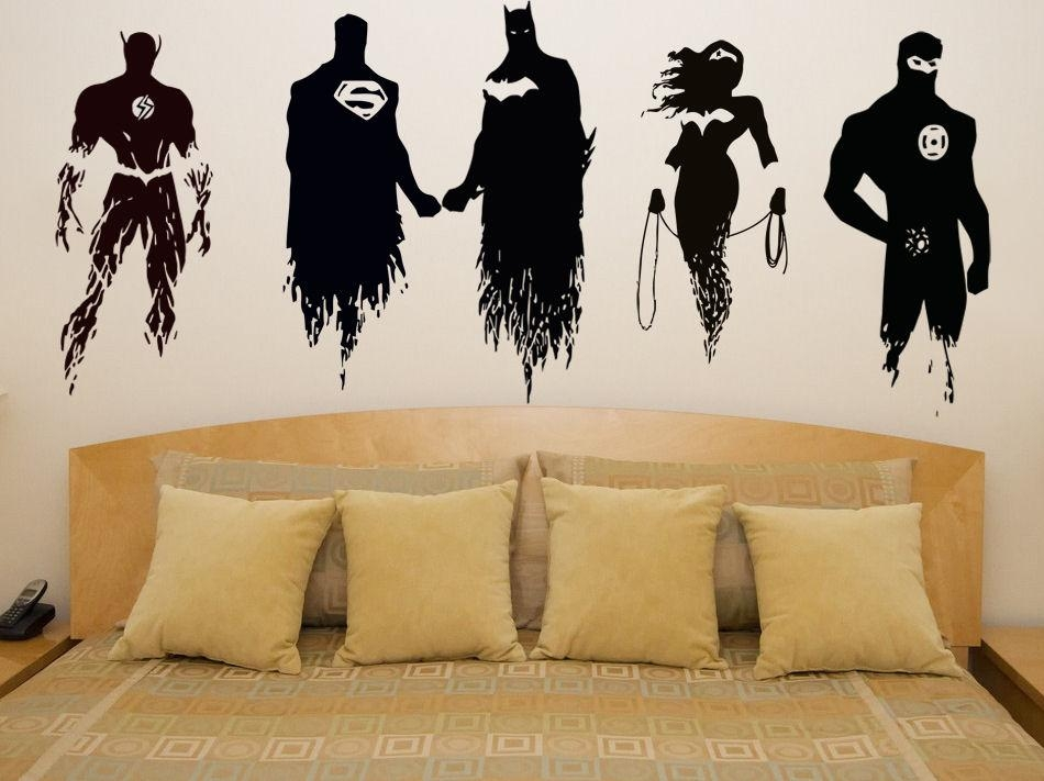 Wall Decal: Amazing Justice League Wall Decals Justice League Inside Superhero Wall Art Stickers (Image 18 of 20)