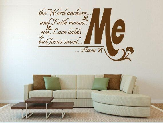 Wall Decal: Biblical Wall Decals Ideas Scripture Wall Decals Throughout Christian Word Art For Walls (Image 18 of 20)