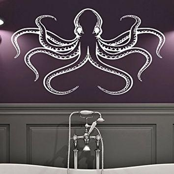 Wall Decal Octopus Tentacles Fish Deep From Amazon | Wall Decal Pertaining To Octopus Tentacle Wall Art (Image 19 of 20)