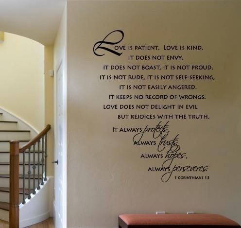 Featured Image of Love Is Patient Love Is Kind Wall Art