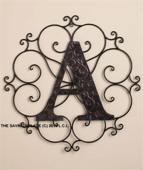 Wall Decor: Awesome Decorative Metal Letters Wall Art Metal Wall Regarding Decorative Metal Letters Wall Art (View 6 of 20)