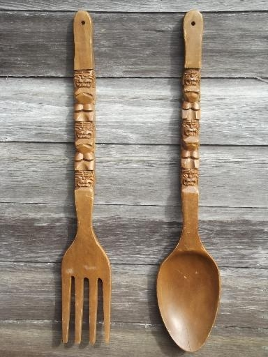 20 ideas of wooden fork and spoon wall art wall art ideas. Black Bedroom Furniture Sets. Home Design Ideas