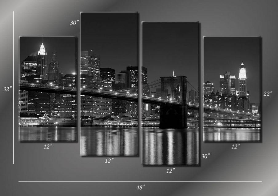 Wall Design: Brooklyn Bridge Wall Art Images. Wall Decor (Image 13 of 20)
