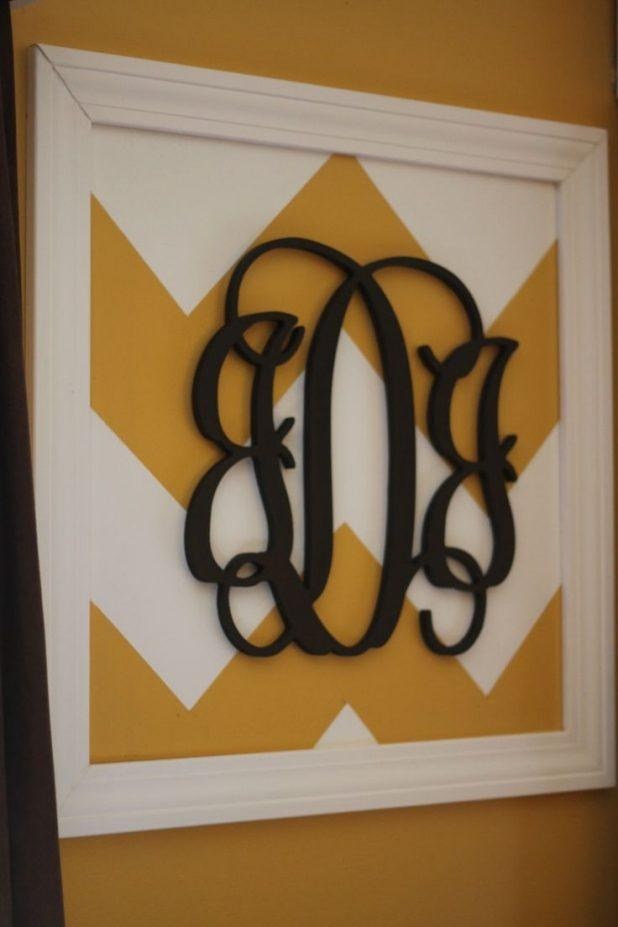 Wall Design: Monogrammed Wall Art Pictures (View 15 of 20)