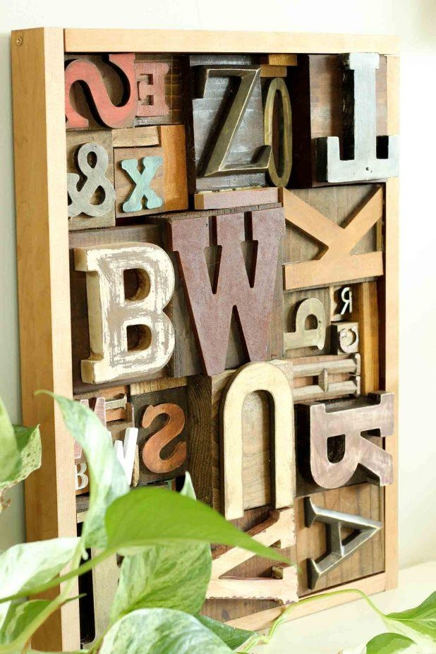 Wall Design: Wall Art Letters Pictures (View 10 of 20)