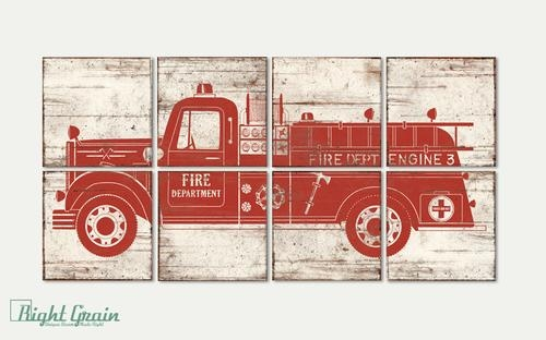Featured Image of Fire Truck Wall Art