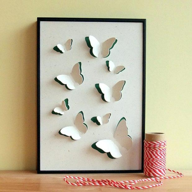 Wall Ideas : 3D Wall Decor Uk 79 Charming Wall Art Ideas For Large Within 3D Butterfly Framed Wall Art (Image 19 of 20)