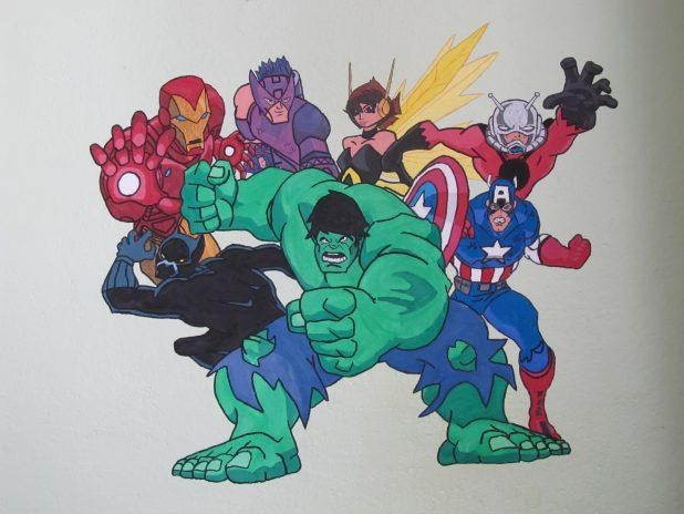 Wall Ideas: Avengers Wall Art Photo. Marvel Wall Art 3D (Image 20 of 20)