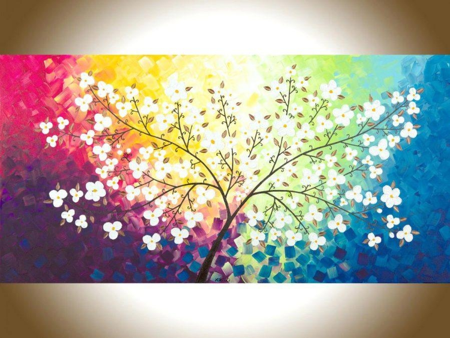 Wall Ideas : Blue Wall Art Decor Red Pink Purple Yellow Blue Green For Red White And Blue Wall Art (Image 20 of 20)