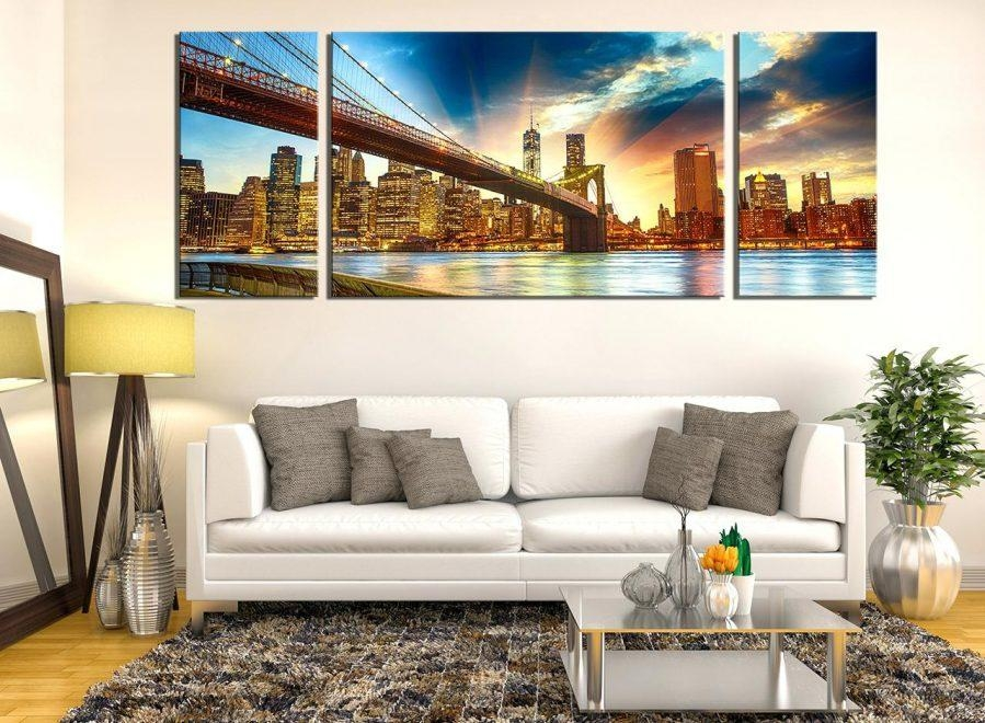 Wall Ideas : Brooklyn Bridge Ropes Horizontal New York Art Print Within Ikea Brooklyn Bridge Wall Art (View 19 of 20)