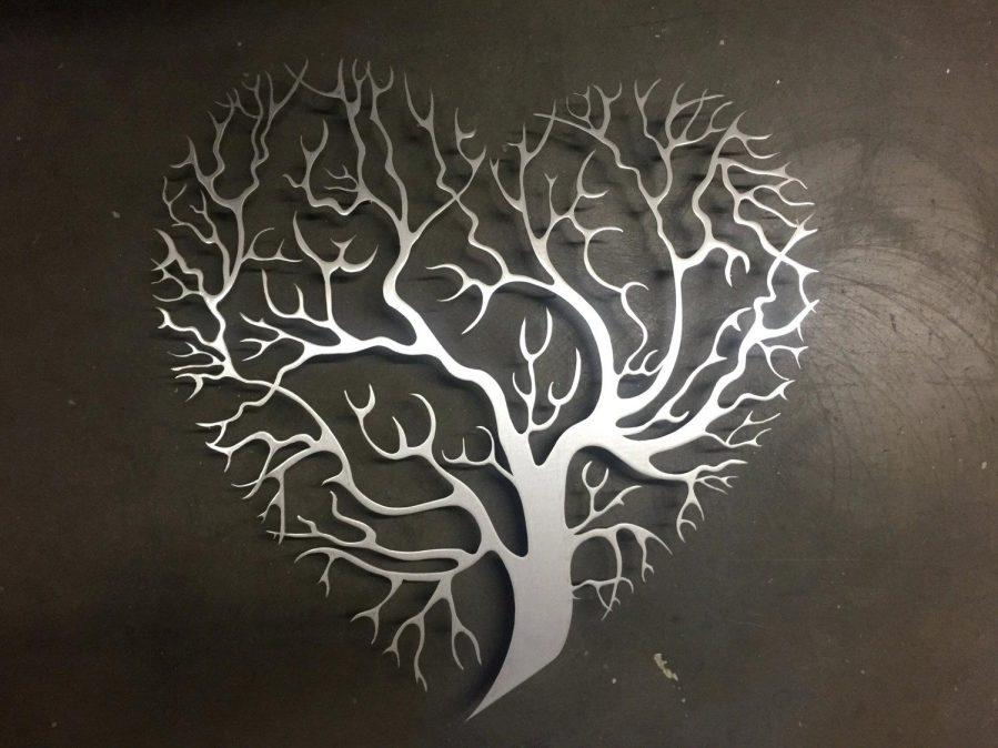 Wall Ideas : Details Heart Shaped Tree Metal Wall Art Outdoor For Heart Shaped Metal Wall Art (Image 18 of 20)