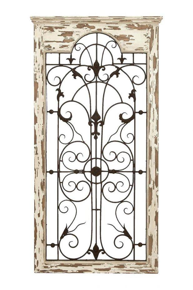 Wall Ideas : Distressed Wood And Wrought Iron Wall Decor Wood Wall With Regard To Wood And Iron Wall Art (Image 15 of 20)