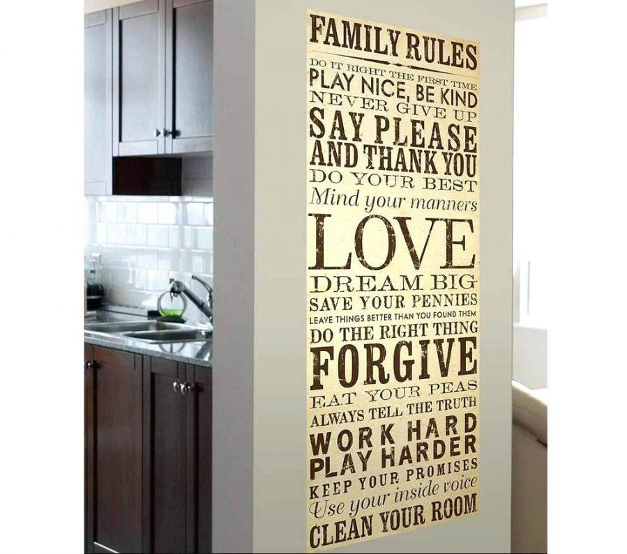 Wall Ideas : Family Rules Wall Art Personalized Huge Wall Quote Pertaining To Family Rules Canvas Wall Art (View 10 of 20)