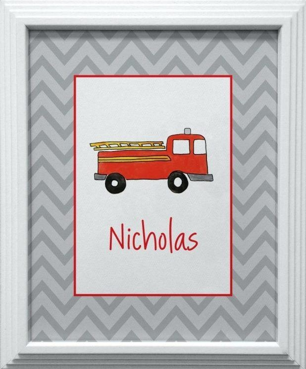 Wall Ideas: Fire Truck Wall Art (View 11 of 20)