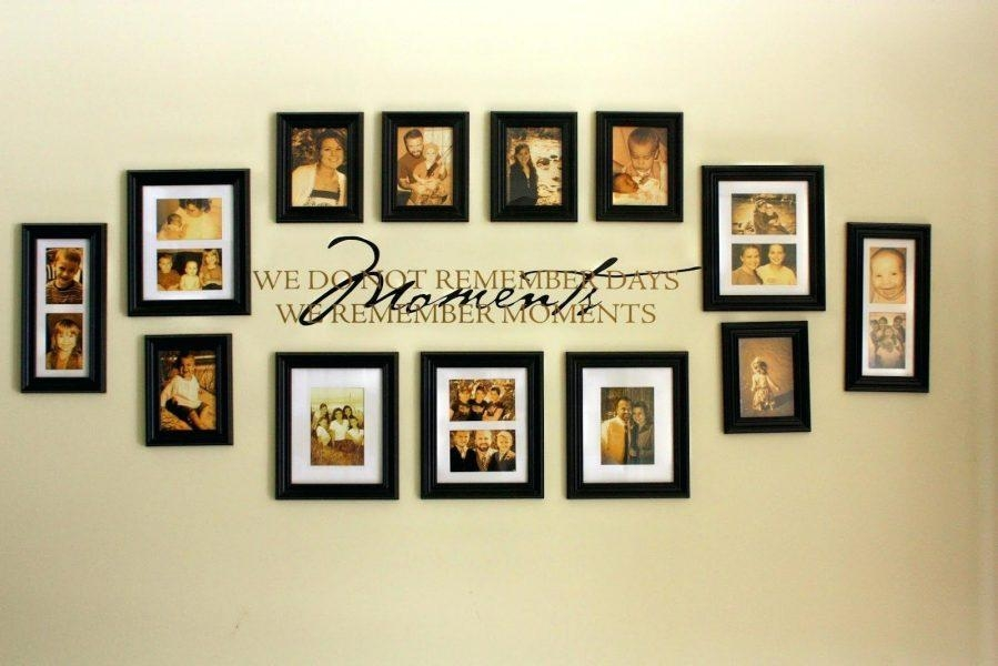 Wall Ideas : Hallway Family Tree Collage Picture Photo Wall Art Pertaining To Family Wall Art Picture Frames (Image 20 of 20)