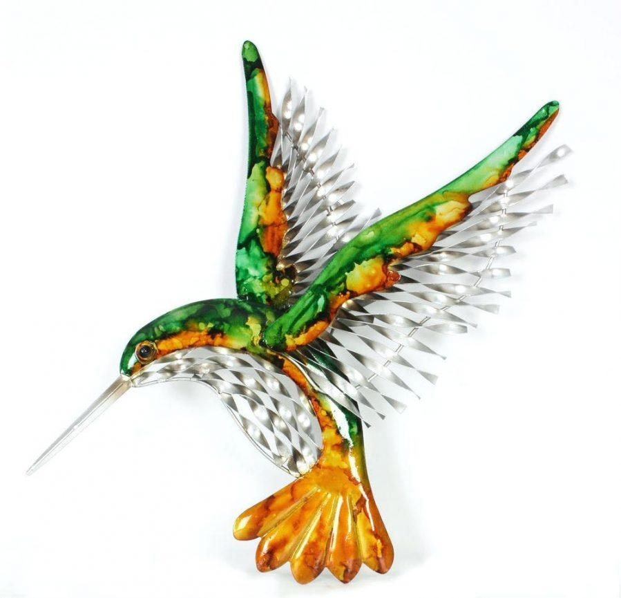 Wall Ideas : Hummingbird Outdoor Wall Decor Metal Hummingbird Wall In Hummingbird Metal Wall Art (Image 18 of 20)