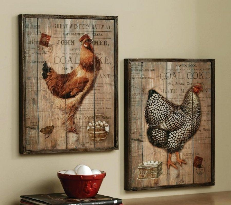 Wall Ideas : Image Of Wood Rooster Wall Decor French Country Intended For Metal Rooster Wall Art (View 11 of 20)