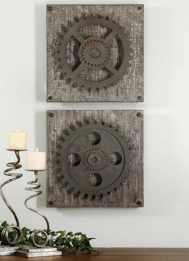 Wall Ideas : Industrial Chic Wall Decor Urban Industrial Loft Throughout Diy Industrial Wall Art (Image 18 of 20)