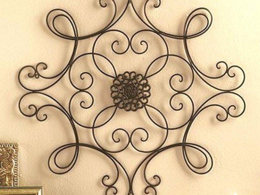 Wall Ideas : Iron Scroll Metal Wire Wall Medallion Hanging Art Intended For Iron Scroll Wall Art (Image 15 of 20)