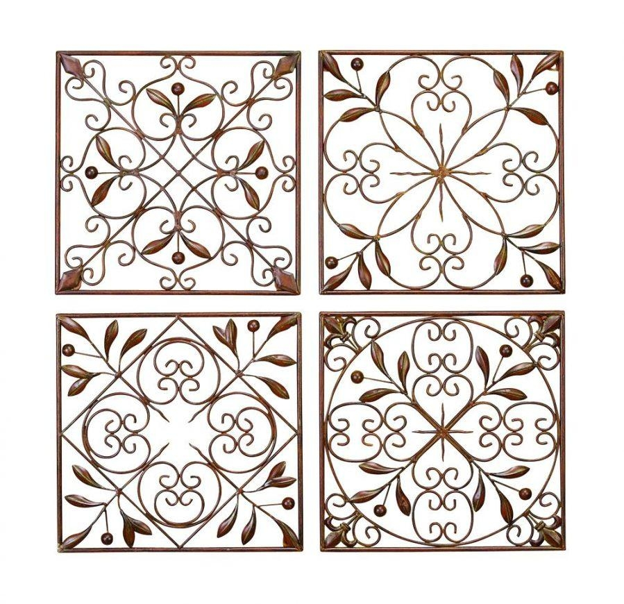 Wall Ideas : Iron Scroll Metal Wire Wall Medallion Hanging Art With Regard To Large Wrought Iron Wall Art (View 5 of 20)