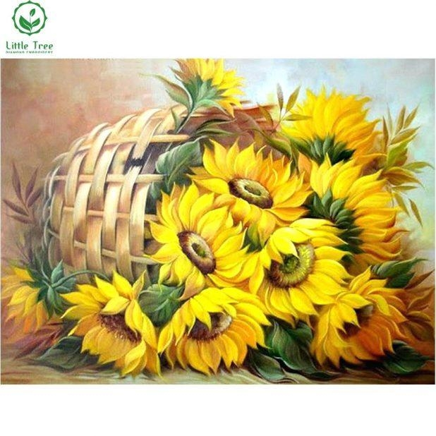 Wall Ideas : Large Sunflower Wall Decor Leonid Afremov Sunflower Regarding Metal Sunflower Wall Art (View 6 of 20)