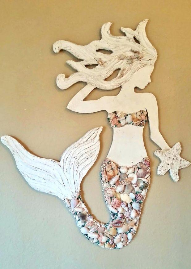 Wall Ideas : Large Wooden Mermaid Wall Art Mermaid Wood Wall Art Intended For Mermaid Wood Wall Art (Image 11 of 20)