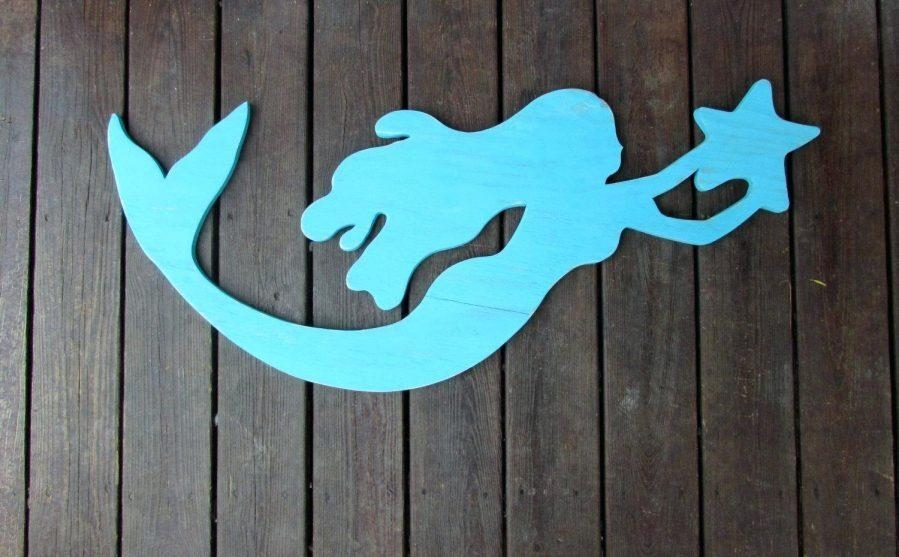 Wall Ideas : Large Wooden Mermaid Wall Art Mermaid Wood Wall Art Within Mermaid Wood Wall Art (View 16 of 20)