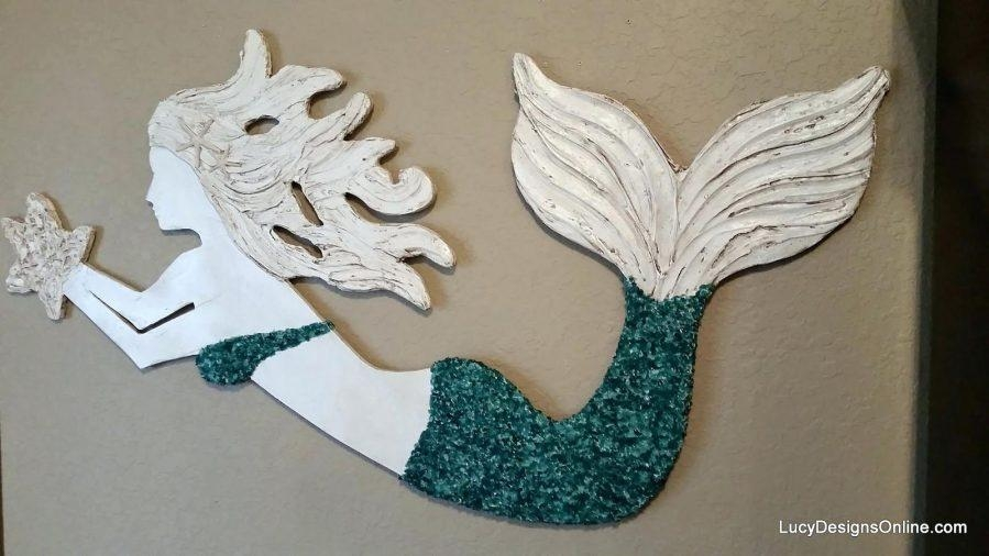 Wall Ideas : Mermaid Wood Wall Art Wooden Mermaid Wall Art Large Within Mermaid Wood Wall Art (Image 13 of 20)