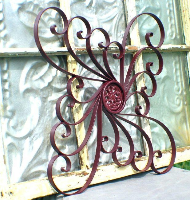 Wall Ideas : Metal Garden Decor Wall Medallion Fence Decoration Inside Outdoor Medallion Wall Art (Image 15 of 20)