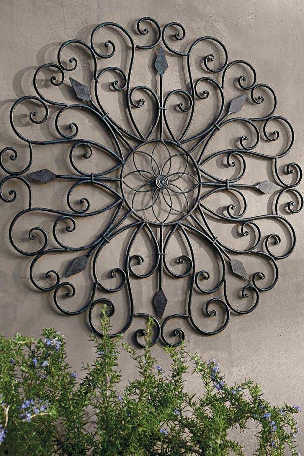 Wall Ideas : Metal Garden Decor Wall Medallion Fence Decoration Regarding Metal Medallion Wall Art (Image 16 of 20)