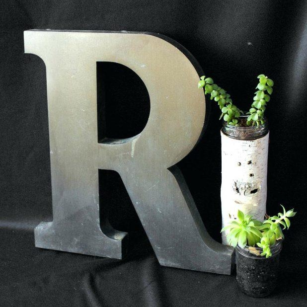 Wall Ideas: Metal Letter Wall Art (Image 16 of 20)
