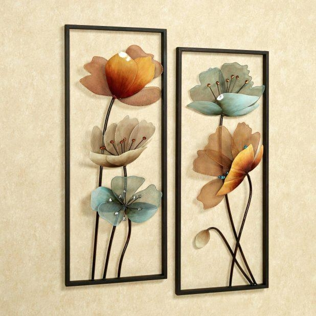 Wall Ideas : Metal Wall Art Flowers Uk Metal Wall Art Flowers Pertaining To Silver Metal Wall Art Flowers (Image 16 of 20)