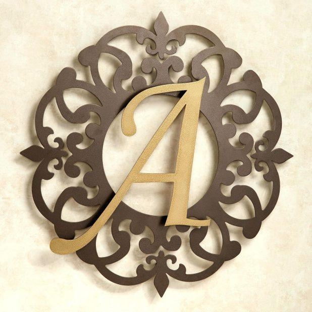 Wall Ideas: Monogram Metal Wall Art (Image 20 of 20)