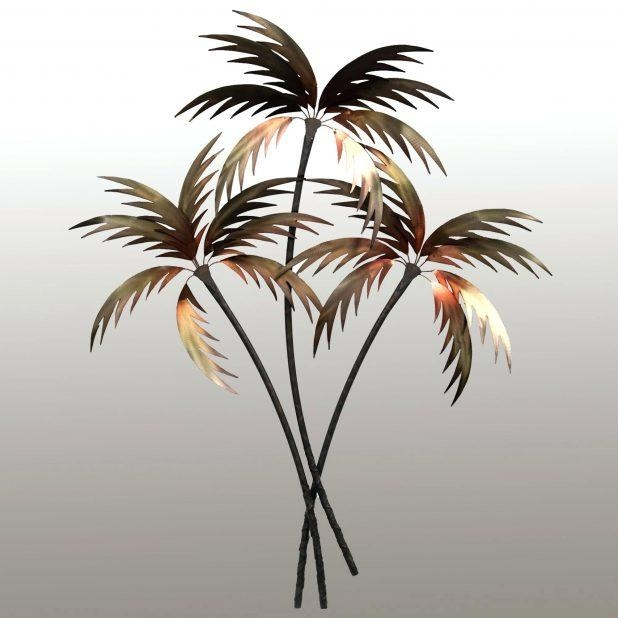 Wall Ideas : Outdoor Metal Wall Art Palm Tree Tropical Metal Wall Within Palm Tree Metal Wall Art (View 20 of 20)