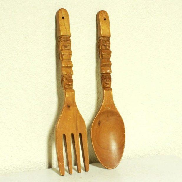 Wall Ideas : Oversized Spoon And Fork Wall Decor Sweet Picture Within Wooden Fork And Spoon Wall Art (View 12 of 20)