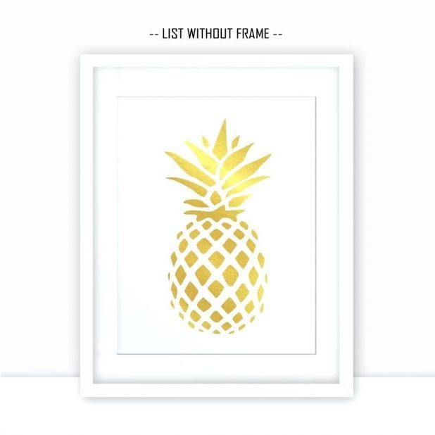 Wall Ideas: Pineapple Wall Art. Pineapple Wall Art Print (Image 19 of 20)