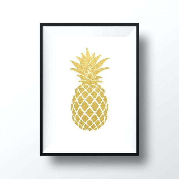 Wall Ideas: Pineapple Wall Art. Pineapple Wall Art Print (Image 20 of 20)