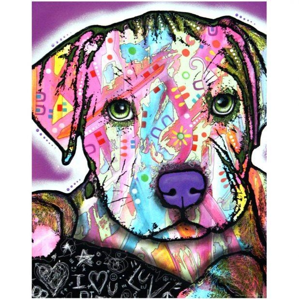 Wall Ideas: Pitbull Wall Art. Pitbull Canvas Wall Art (Image 19 of 20)
