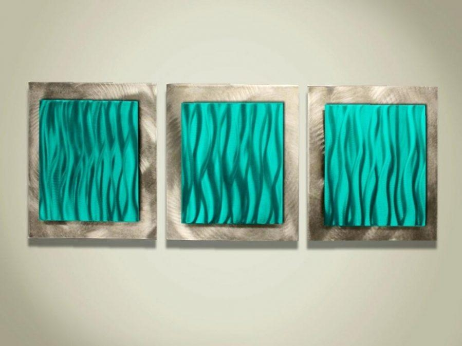 Wall Ideas : Raghnall Square Wall Art Bronze Square Metal Wall Art Pertaining To Turquoise Metal Wall Art (Image 18 of 20)