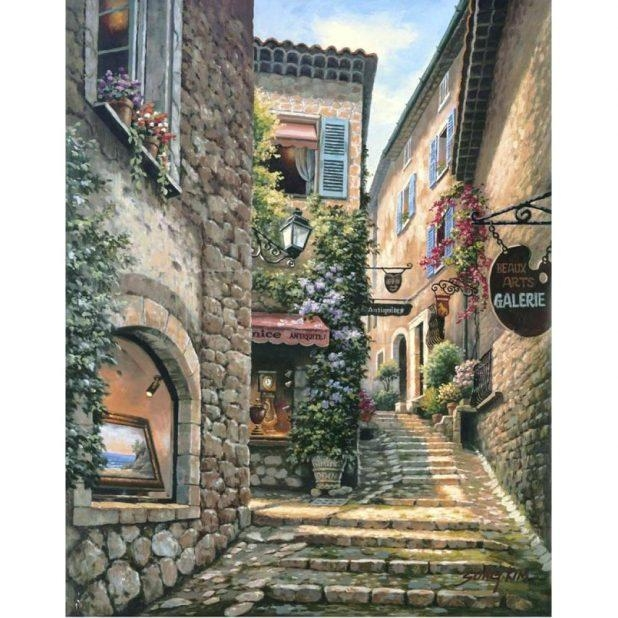 Wall Ideas : Scattered Italian Plates Wall Art Tuscan Wall Art In Italian Village Wall Art (Image 20 of 20)