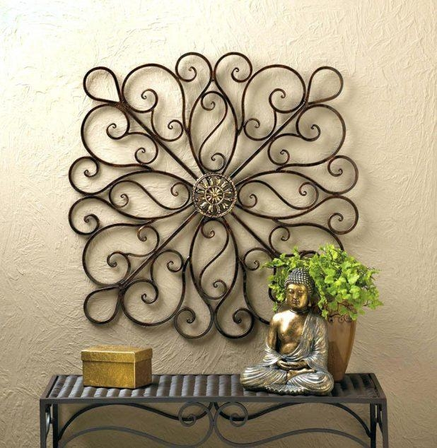 Wall Ideas: Scroll Wall Art. Iron Scroll Wall Art Decor (Image 19 of 20)