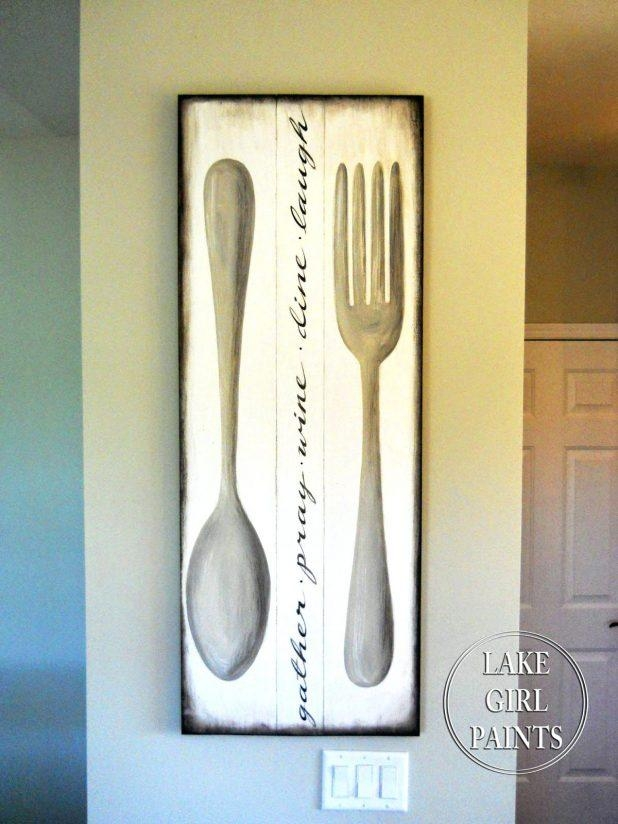 Wall Ideas: Utensil Wall Decor. Eating Utensil Wall Art (Image 17 of 20)