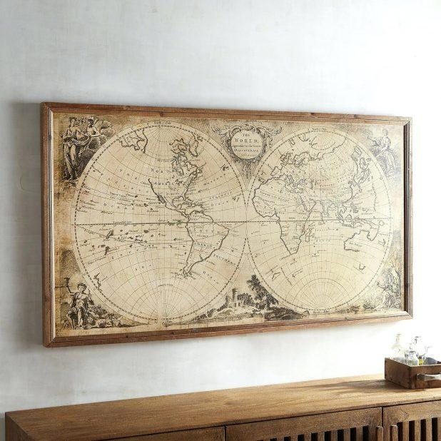 Wall Ideas: Wall Art World Map. Wall Art World Map Sticker (View 14 of 20)