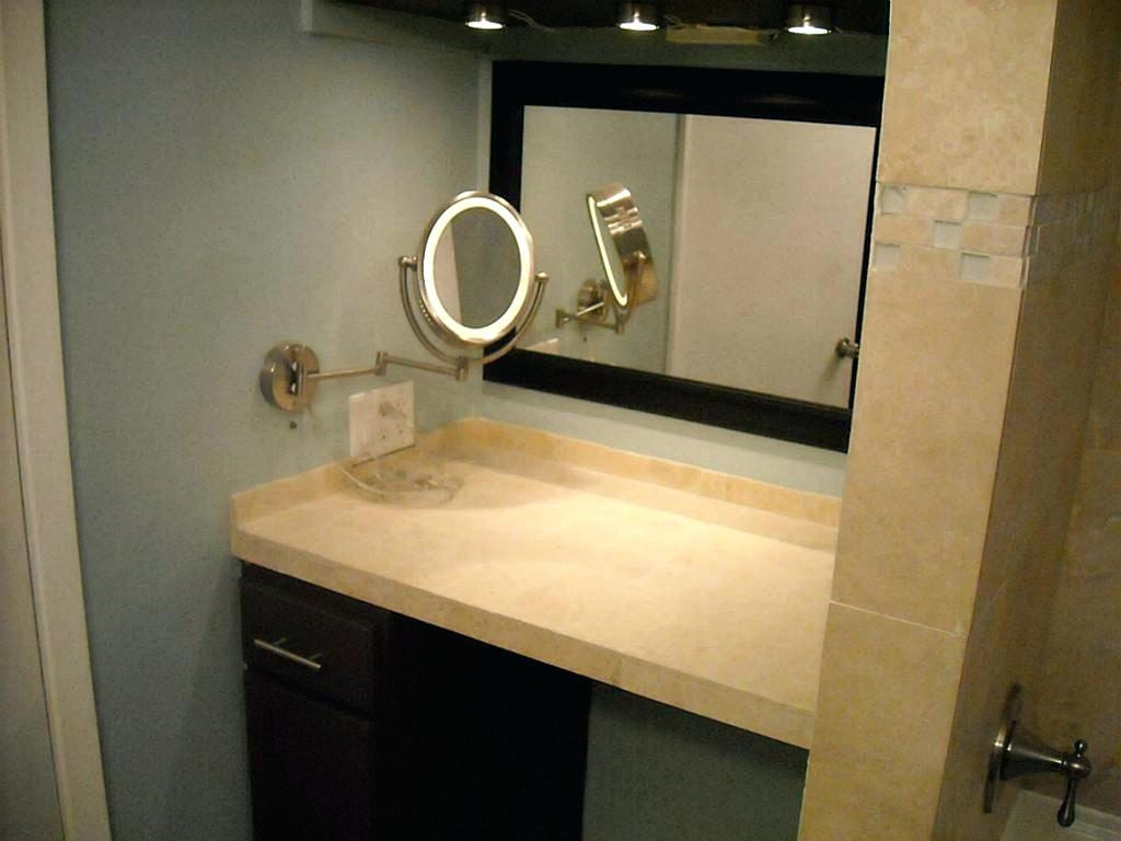 Wall Ideas : Wall Mounted Makeup Mirror With Led Lights Wall In Magnified Vanity Mirrors (Image 18 of 20)