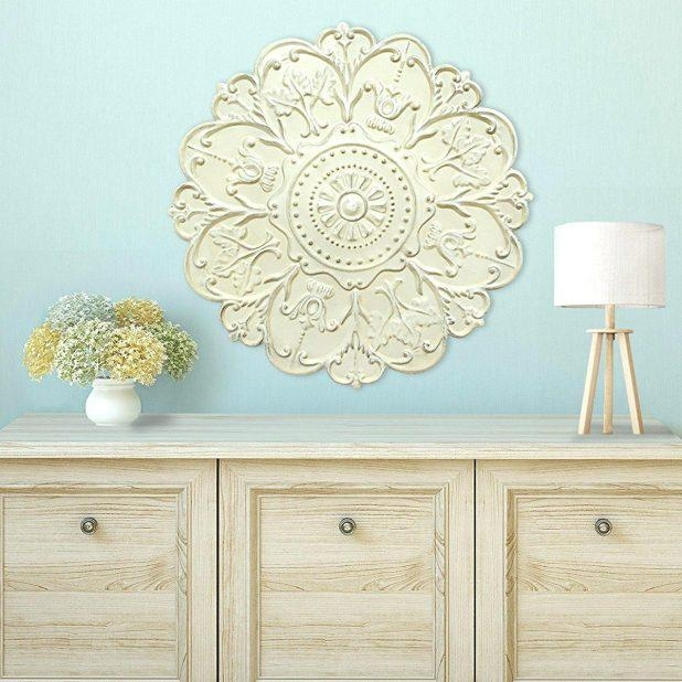 Wall Ideas : White Medallion Wall Decor Metal Medallion Wall Decor Pertaining To White Medallion Wall Art (Image 16 of 20)