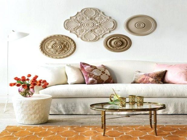 Wall Ideas : White Medallion Wall Decor Metal Medallion Wall Decor Regarding White Medallion Wall Art (Image 17 of 20)