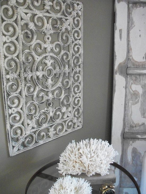 Wall Ideas: White Metal Wall Art Pictures (View 15 of 20)
