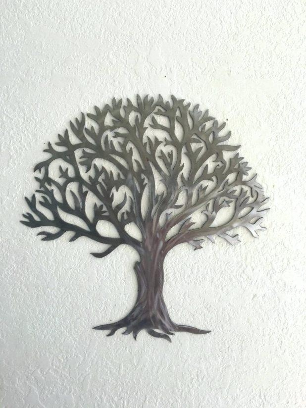 Wall Ideas : Wood And Metal Wall Art Metal Tree Wall Art With For Oak Tree Large Metal Wall Art (Image 17 of 20)